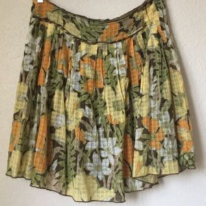 Tommy Bahama pretty tropical silk blend skirt